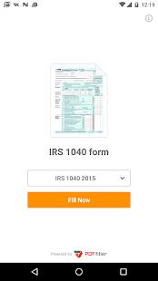 PDF Form 1040 for IRS: Income Tax Return eForm