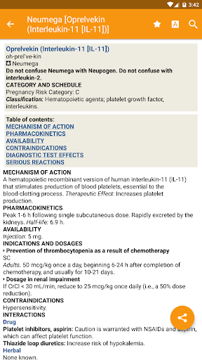 Mosby's Drug Reference for Health Professions  screenshots 1