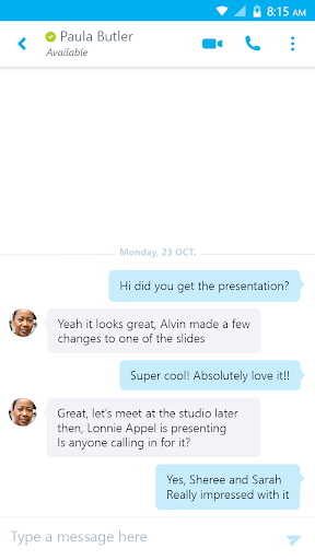 Skype for Business for Android  screenshots 2