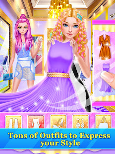 Hair Stylist Fashion Salon ❤ Rainbow Unicorn Hair