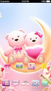 Cute Bear love  honey with Pink hearts DIY Theme 3.9.10 Screenshots 4