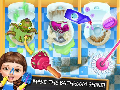Sweet Baby Girl Cleanup 6 - School Cleaning Game android2mod screenshots 12