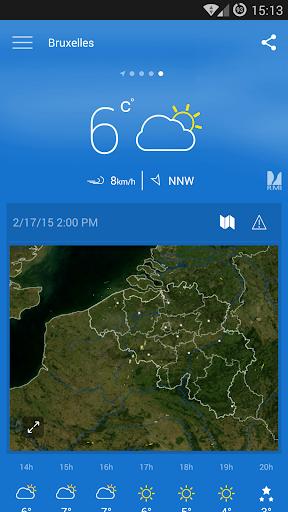 KMI - IRM: .be Weather 2.8.8 Screenshots 1