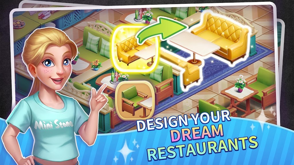 My Restaurant Empire - 3D Decorating Cooking Game  poster 2