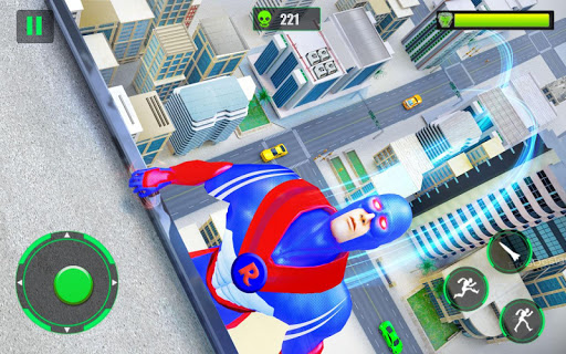 Flying Police Robot Rope Hero: Gangster Crime City 25 screenshots 8