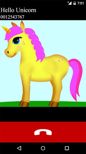 Download unicorn fake video call game 3.0 screenshots 1