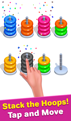 Color Hoop Sort - Sort it Puzzle - Hoop Stack screenshots 2