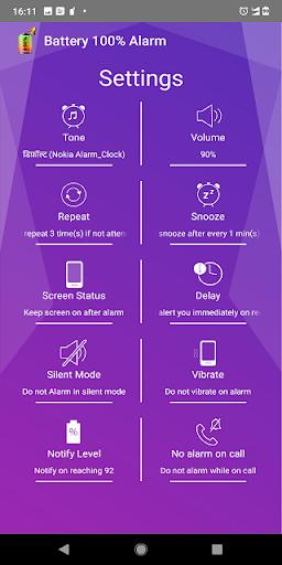 Battery 100% Alarm 4.3.3 Screenshots 3