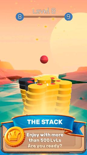 the stack tower : ball fall game 3d stick blocks ☄ screenshot 2