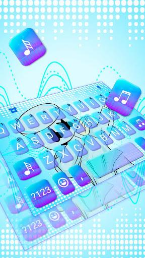 blues dj cool man keyboard theme screenshot 2