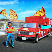 Van Pizza Delivery Boy: Food Games