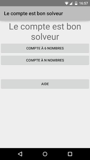 Le compte est bon : Jeu et Solveur screenshots 1
