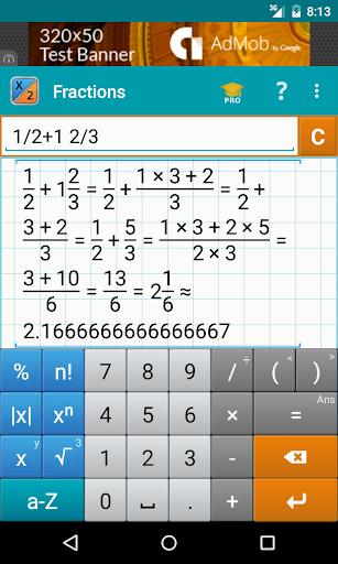 fraction calculator + math screenshot 1