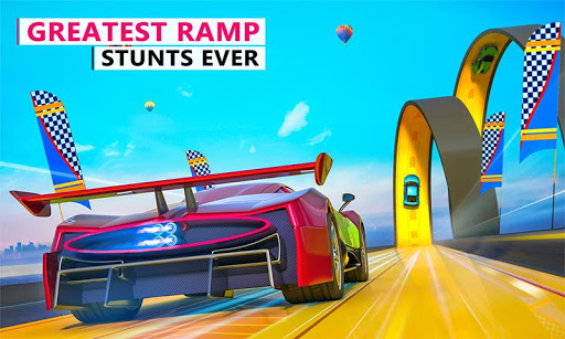 Extreme Stunts Car Chase Ramp GT Racing Car Games screenshots 4