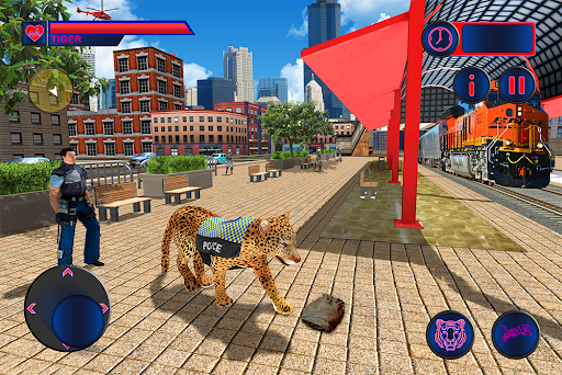 Police Tiger Chase Simulator: City Crime Apkfinish screenshots 10