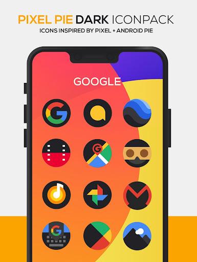 pixel pie dark icon pack screenshot 2