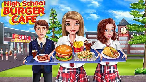 High School Café Girl: Burger Serving Cooking Game 2.4 screenshots 4
