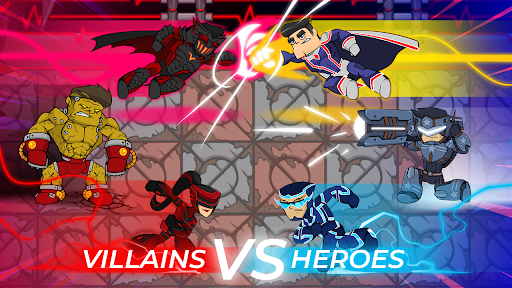 Télécharger Villains vs Heroes: Defenders of Dark  APK MOD (Astuce) screenshots 1