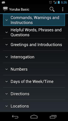 Learn Yoruba: Yoruba Basic Phrases - Works offline screenshots 1