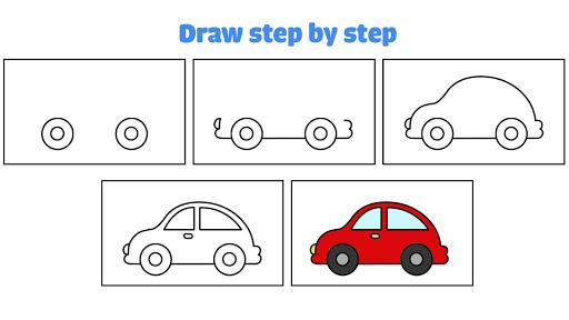 Car coloring : kids doodle drawing games for kids  screenshots 3
