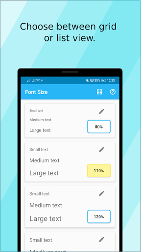 Font Size (ad free) screen 1