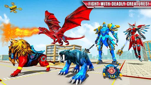 Royal Lion Robot Games- Dragon Robot Transform War  screenshots 9