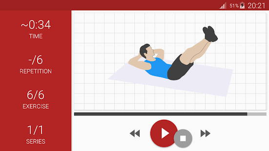 Abs workout A6W - flat belly at home Screenshot