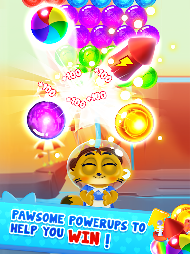 Space Cats Pop - Kitty Bubble Pop Games apkmr screenshots 14