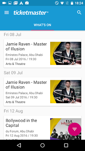 Ticketmaster Middle East screenshots 1