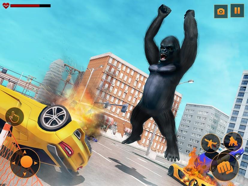 Captura 9 de Angry Monster Gorilla - Godzilla King Kong Games para android