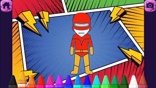 Superhero Coloring Book - Kids  screenshots 6