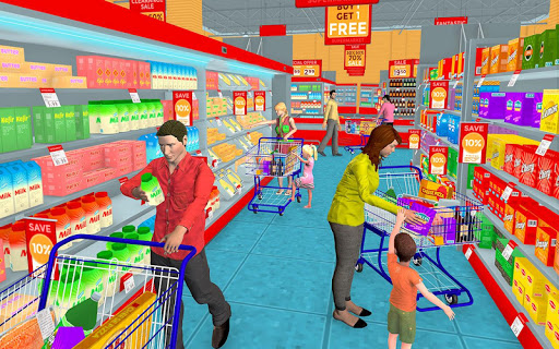 Supermarket Grocery Shopping Mall Family Game 1.8 screenshots 1