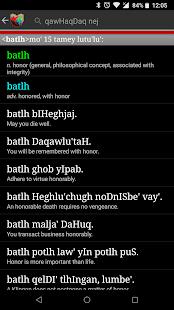 boQwI' (Klingon language)