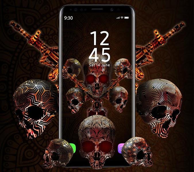 Skull APUS Live Wallpaper