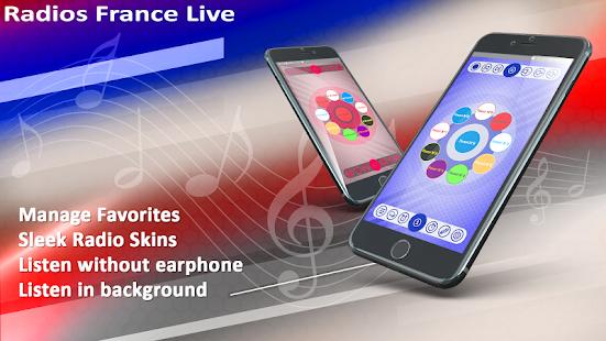 Radios France live    Record, Alarm& Timer 24.5 screenshots 1