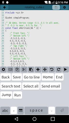 Mobile C [ C/C++ Compiler ] 2.5.2 Screenshots 4