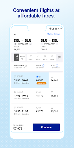 IndiGo-Flight Ticket Booking App 5.0.62 screenshots 2