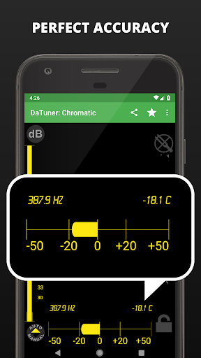 Guitar Tuner, Bass, Violin, Banjo & more | DaTuner 3.200 Screenshots 3