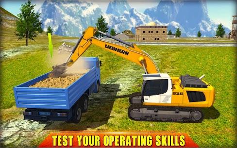 Heavy Excavator Crane Simulator 2018 1.2.3 Mod + Data for Android 2