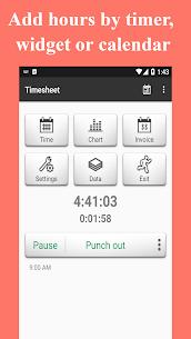 Timesheet v1.6.1 APK – Work Hour – Work Log (Pro) 1