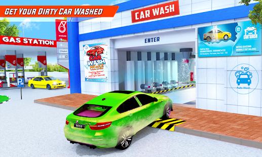 Gas Station Car Driving Simulator Car Parking Game  Screenshots 2