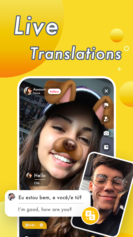 Vimo - Video Chat Strangers & Live Voice Talk  poster 1