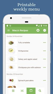 Mary's Recipes: Meal Planner & Grocery List 1