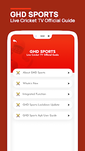GHD SPORTS – Live Cricket TV Official Guide Apk Download 2021 4