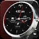 赤溶岩アナログ時計の顔 - Androidアプリ