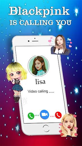 black pink call you: fake video call screenshot 1