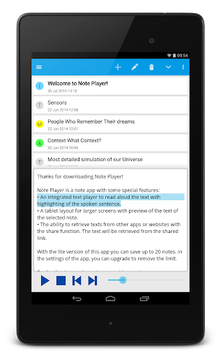 Note Text Player (Read aloud) For PC Windows (7, 8, 10, 10X) & Mac Computer Image Number- 14