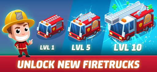 Idle Firefighter Tycoon - Fire Emergency Manager screenshots 1