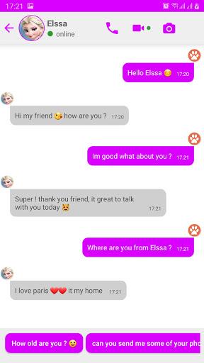 Fake chat with Elsa : call & video - prank  Pc-softi 8