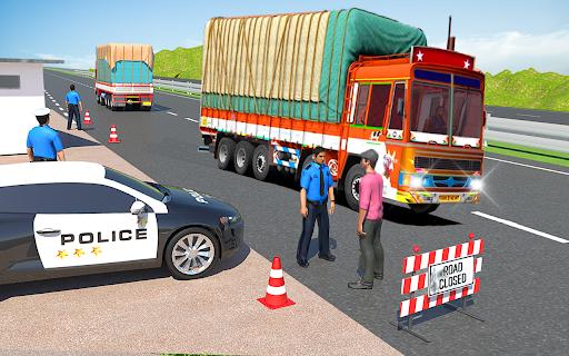 Indian Cargo Truck Transporter City Driver 3D Game  screenshots 7